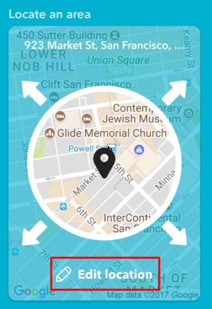 video share applet_edit location